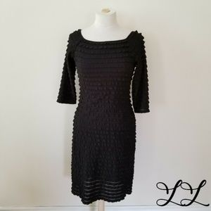 Vintage Frank Lyman Dress Black Cocktail 90s Sexy
